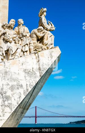 Padrao dos Descobrimentos (Monument of the Discoveries) in Lisbon, Portugal. - Stock Photo