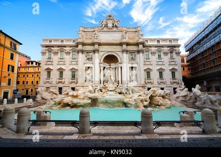 Morning over Fontana di Trevi in Rome, Italy. - Stock Photo