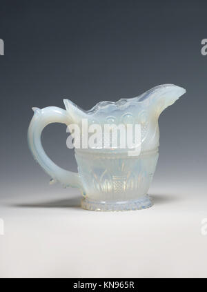 Cream pitcher MET DP207348 2640 Manufacturer: Probably Boston & Sandwich Glass Company, American, 1825?1888, Sandwich, - Stock Photo