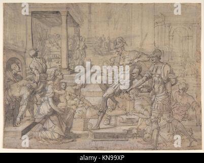 Amya Petitioning Faustus for the Custody of Saint Mamas MET DP805774 343314 - Stock Photo