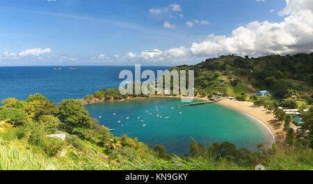 Parlatuvier bay - Caribbean sea - West indies - Antilles - Tobago - Stock Photo