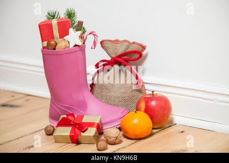 Santa Boots as a gumboot. - Stock Photo