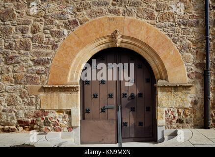 Salamanca in spain door detail along via de la Plata way to Santiago.