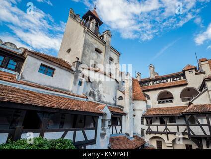 Bran Castle known as Dracula's Castle near Bran in Romania. - Stock Photo