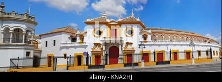 Seville Real Maestranza bullring plaza toros de Sevilla in andalusia Spain. - Stock Photo