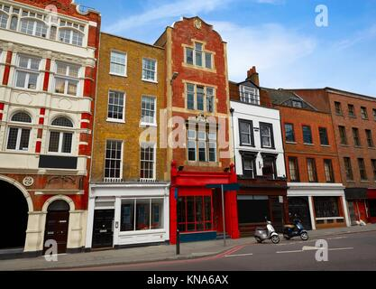 London Southwark old brick buildings in England. - Stock Photo