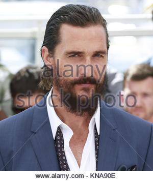 CANNES, FRANCE - MAY 16: Matthew McConaughey ,Naomi Watts and Gus Van Sant attend 'The Sea Of Trees' Photocall during - Stock Photo