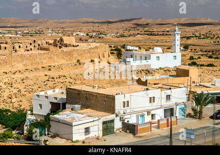 View of Ksour Jlidet, a village in South Tunisia - Stock Photo