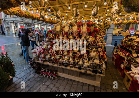 Shoppers And Revellers At Manchester Christmas Markets Around The City, Manchester, England, UK - Stock Photo