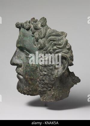 Fragmentary bronze portrait of the emperor Caracalla MET DP120140 255957 - Stock Photo