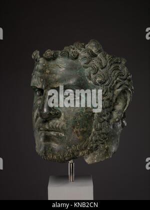Fragmentary bronze portrait of the emperor Caracalla MET DP338136 255957 - Stock Photo