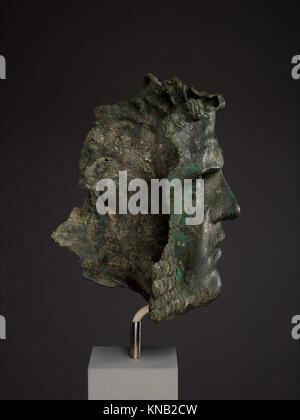 Fragmentary bronze portrait of the emperor Caracalla MET DP338127 255957 - Stock Photo
