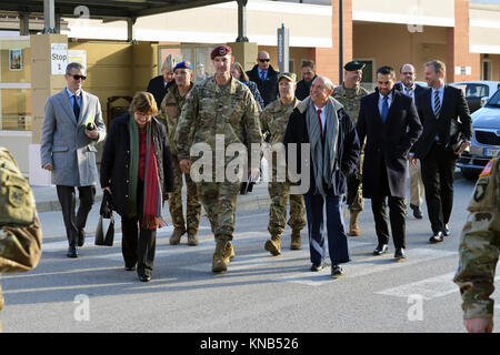 U.S. Ambassador to Italy Lewis Eisenberg visited with leaders from U.S. forces at Caserma Del Din, Vicenza, Italy, - Stock Photo