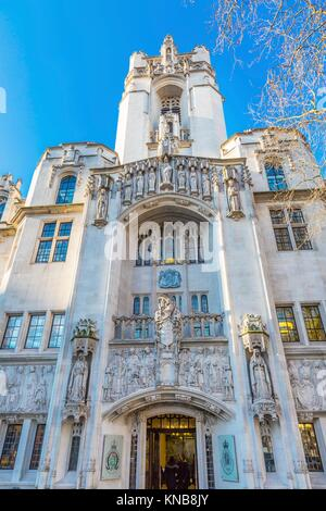Supreme Court United Kingdom Middlesex Guildhall Westminster London England. Guildhall became Supreme Court in 2005. - Stock Photo
