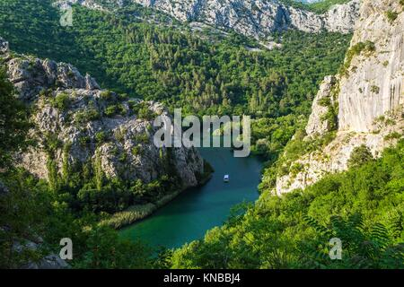 Canyon of Cetina River near Omis, Croatia. - Stock Photo