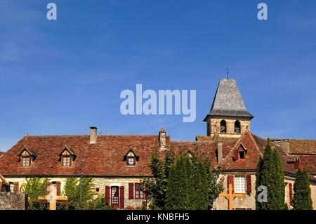 Medieval Village of Loubressac, Lot, France. - Stock Photo