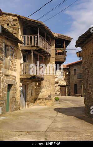 Conjunto historico Artistico de Villardecierbos, Sierra de la Culebra, Zamora,Spain. - Stock Photo