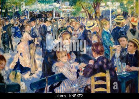 Auguste Renoir (1841-1919),. El baile del molino de la Galette,. 1876,. oil on canvas, Orsay Museum, Paris, France,Western - Stock Photo