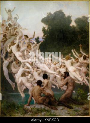 William Bouguereau (1825-1905),. Las Oreadas,. 1902,. oil on canvas, Orsay Museum, Paris, France,Western Europe. - Stock Photo
