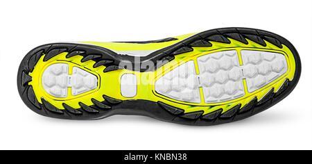 Rippled shoe sole isolated on white background. - Stock Photo