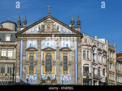 Saint Anthony's Church (also known as Church of the Congregates) in Santo Ildefonso civil parish of Porto city, - Stock Photo