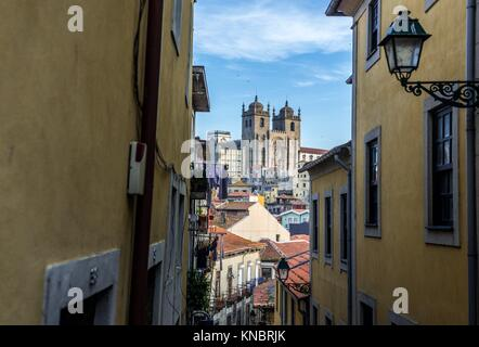 Roman Catholic Se Cathedral in Porto city on Iberian Peninsula, second largest city in Portugal. - Stock Photo