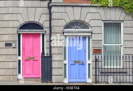 Georgian Doors in Dublin city, Ireland. - Stock Photo
