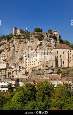 village of Rocamadour, Midi-Pyrenees, France. - Stock Photo