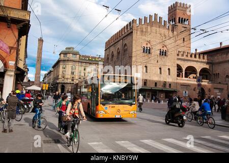 Palazzo re Enzo, Bologna Italy. - Stock Photo