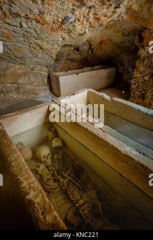 Hypogeum, Punic necropolis of Puig des Molins, Ibiza and Formentera Archeological Museum, Patrimonio de la Humanidad - Stock Photo