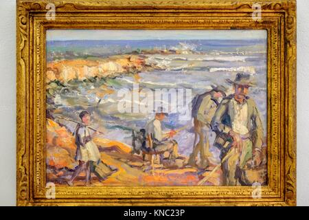 Oil on canvas, Narcís Puget Viñas, Puget Museum, Can Comasema, casa del siglo XV, Ibiza, Balearic Islands, Spain. - Stock Photo