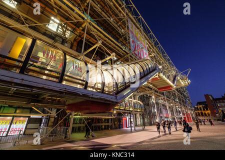 Centre national d'art et de culture Georges-Pompidou, Paris, France - Stock Photo