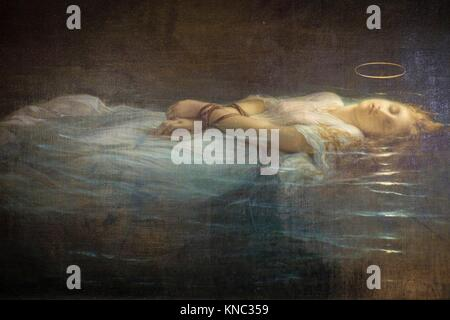 Paul Delaroche, The young martyr, Oil on canvas, 1855Louvre Museum, Paris, France - Stock Photo