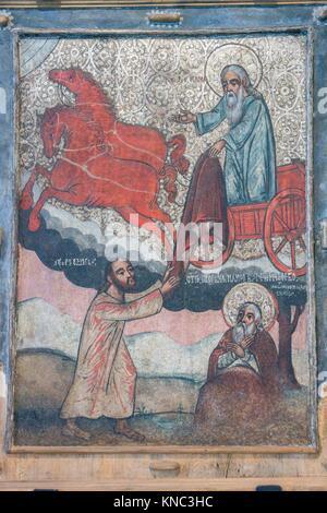 el profeta Elias, Weremien, siglo XVII, museo de los iconos, castillo Real, Sanok, Podkarpackie Voivodeship, Poland, - Stock Photo