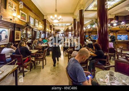 Café Tortoni, 825 de la Avenida de Mayo,Buenos Aires, Argentina - Stock Photo