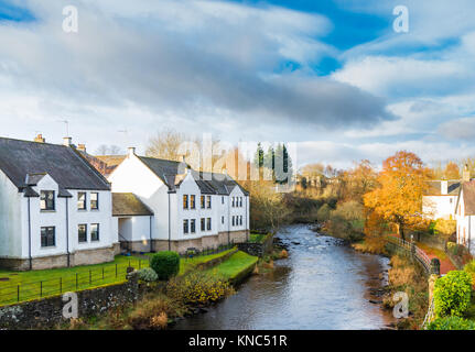 The beautiful Allan Water that runs through the town of Dunblane in Scotland home town of Andy Murray Scottish tennis - Stock Photo