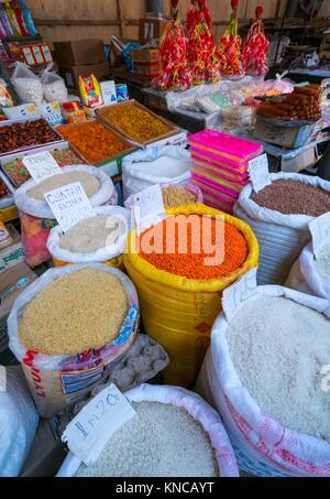 Local Market, Shaki City, Azerbaijan, Middle East. - Stock Photo