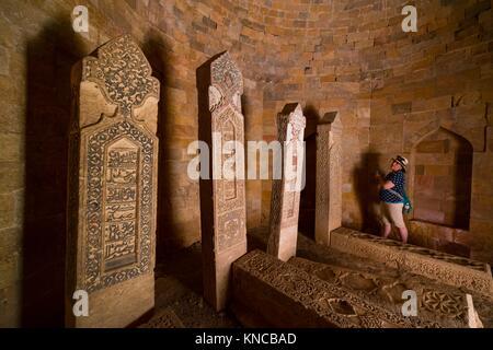 Yeddi Gumbaz Mausoleum, Shamakhi Town, Azerbaijan, Middle East. - Stock Photo