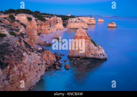 Praia da Marinha, Algarve, Atlantic Ocean, Portugal, Europe. - Stock Photo