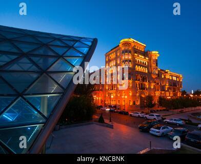 Underground Station, Baku City, Azerbaijan, Middle East. - Stock Photo