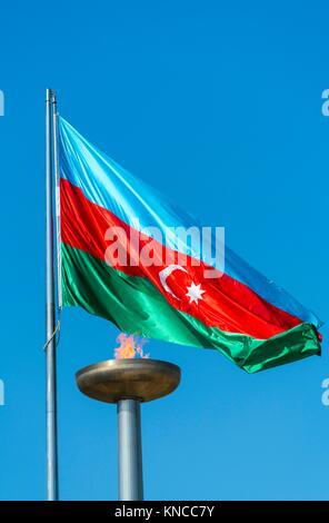 Martyrs' Lane - Alley of Martyrs, Kirov Park, Baku City, Azerbaijan, Middle East. - Stock Photo