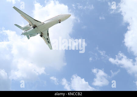 Phuket, Mai Khao Beach, Thailand - December 27, 2016: G200 Private Jet - Stock Photo