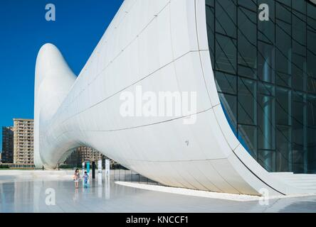 Zaha Hadid Architect Building, Heydar Aliyev Center, Baku City, Azerbaijan, Middle East. - Stock Photo