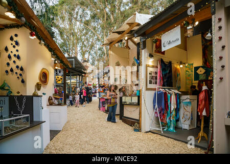Laguna Beach, DEC 10: Many beautiful art show in Sawdust Art winter festival on DEC 10, 2017 at Laguna Beach, California, - Stock Photo