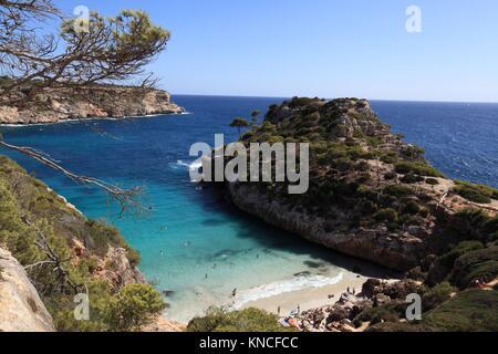 Cala Almonia, Mallorca, Islas Baleares - Stock Photo