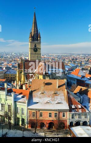 Sibiu Lutheran Cathedral (Romania) - Stock Photo