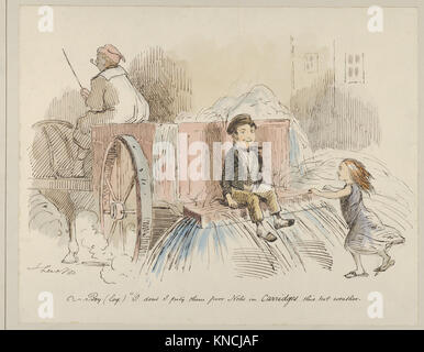 Boy (loq.) O don't I pity them poor Nobs in Carriages this hot weather MET DP850223 363848 - Stock Photo