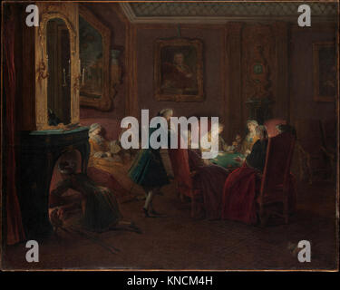 Card Players in a Drawing Room MET DP356146 436230 - Stock Photo