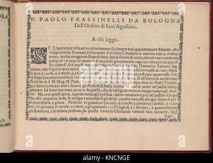 Ghirlanda- Di sei vaghi fiori scielti da piu famosi Giardini d'Italia, page 3 (recto) MET DP362255 358089 - Stock Photo