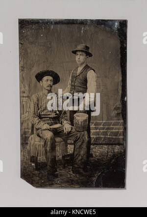 -Two Painters, One Seated and One Standing, with Brushes and a Bucket- MET DP700318 291853 - Stock Photo